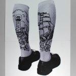 Tattooed socks, embroidery on paper, paolo fiorentini